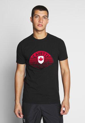 ZAVETTI CANADA BOTTICINI  - T-shirt print - black