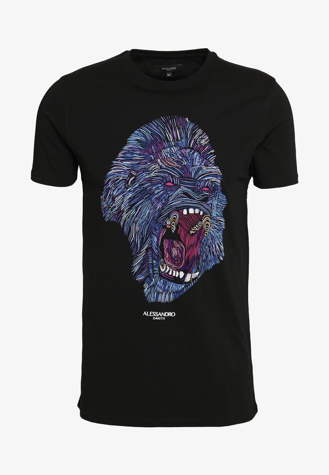 RAGING APE - T-Shirt print - black