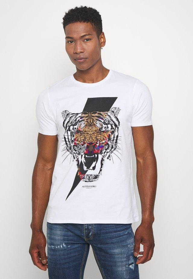 GROWLER - T-shirt imprimé - white