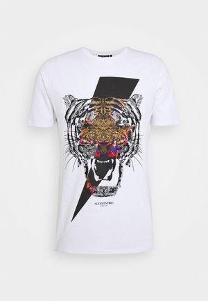 GROWLER - T-shirt z nadrukiem - white