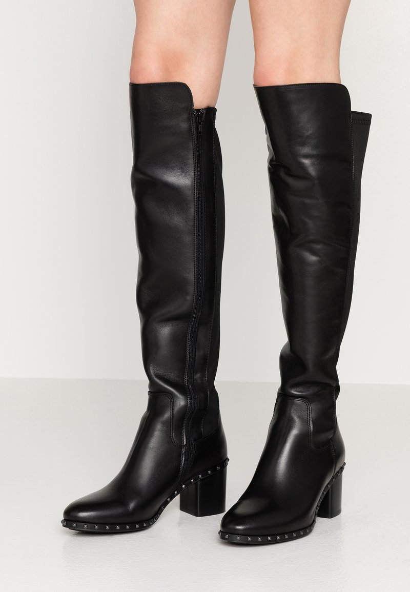 Alpe - VOGUE - Overknees - black