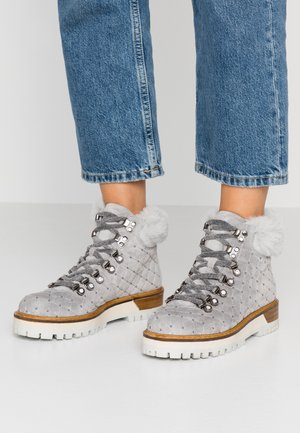 TIANA - Platform ankle boots - pearl