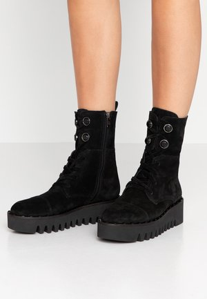 JADE - Lace-up ankle boots - black