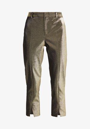 ABBEY METALLIC CROPPED PANT - Pantalon classique - gold