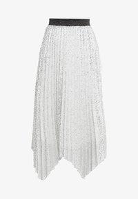 Allen Schwartz - ARLO HANDKERCHEIF HEM PLEATED SKIRT - A-snit nederdel/ A-formede nederdele - silver - 4