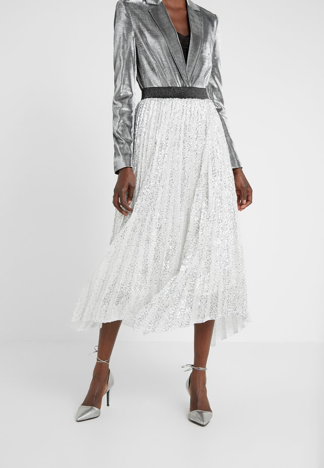 ARLO HANDKERCHEIF HEM PLEATED SKIRT - A-lijn rok - silver