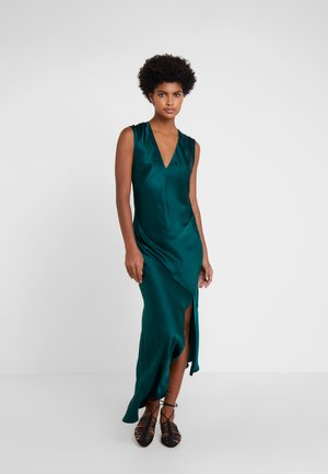 DESIREE DRESS WITH OPEN BACK - Iltapuku - dark green