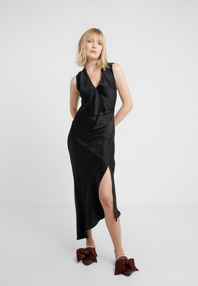 DESIREE DRESS WITH OPEN BACK - Iltapuku - black