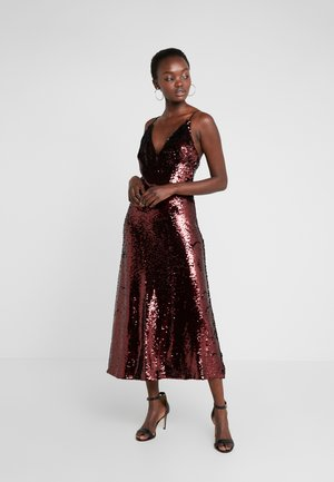 DEEP MIDI GOWN - Robe de cocktail - raisin