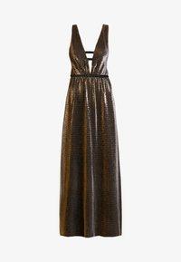 Allen Schwartz - ZOZA DEEP V MAXI DRESS IN CRINKLE METALLIC  - Gallakjole - bronze - 3