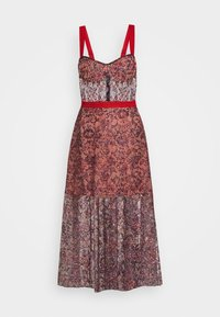Allen Schwartz - EDEN BUSTIER DRESS IN PRINTED - Vestito elegante - red - 10