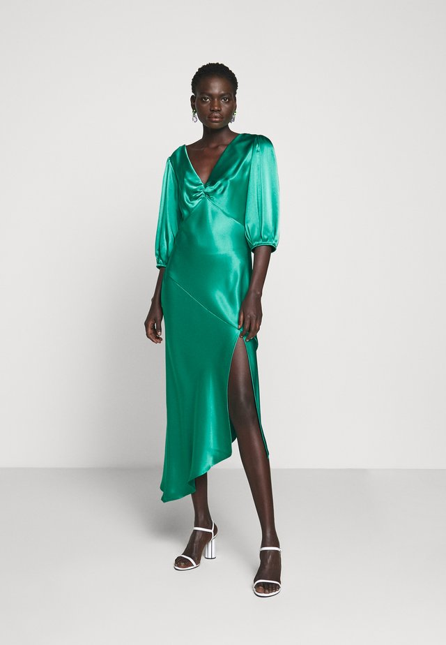 LOUISE DEEP V DRESS HEM - Cocktailklänning - jade