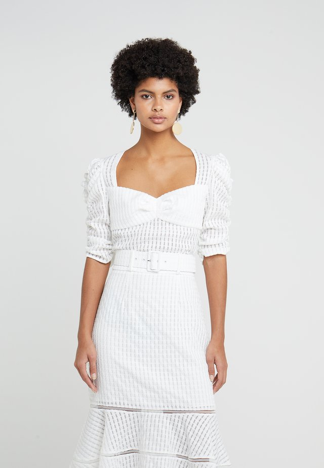 AERIN CROPPED BUSTIER - Camicetta - ivory