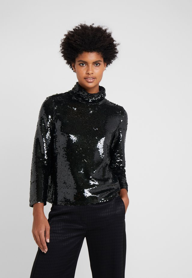 HOLLIDAY TURTLE NECK IN SEQUINS - Bluse - dark green