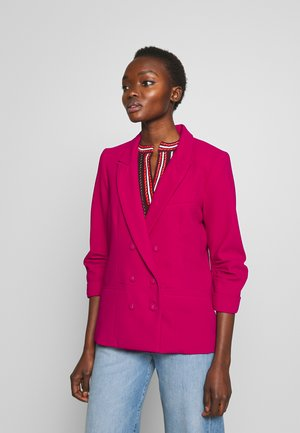 FINN DOUBLE BREASTED SLEEVES - Blazer - magenta