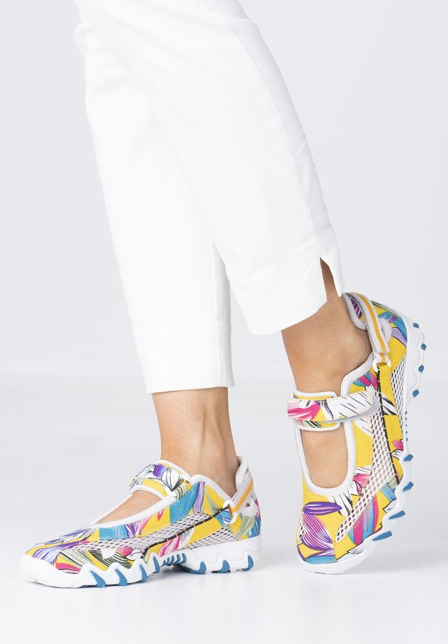 Ankle strap ballet pumps - multicolor/cloud