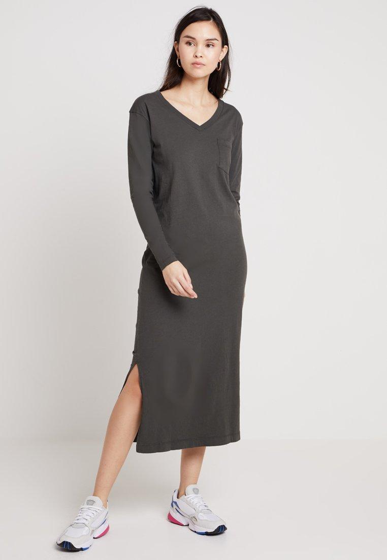 American Vintage - IXATOWN LONG SLEEVE DRESS - Maxi-jurk - smoky vintage