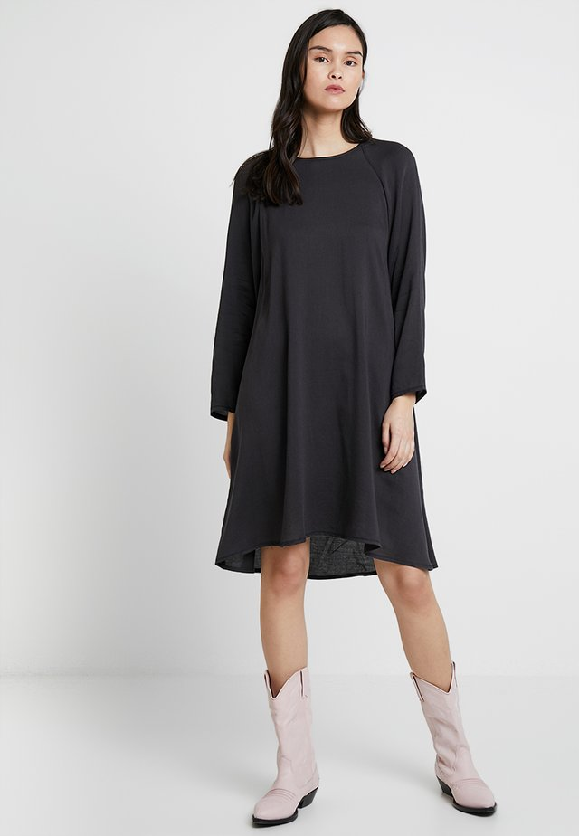 DORABIRD LONG SLEEVE DRESS - Day dress - carbone