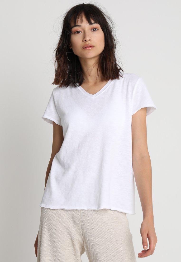 American Vintage - SONOMA V NECK TEE - T-shirt basic - white