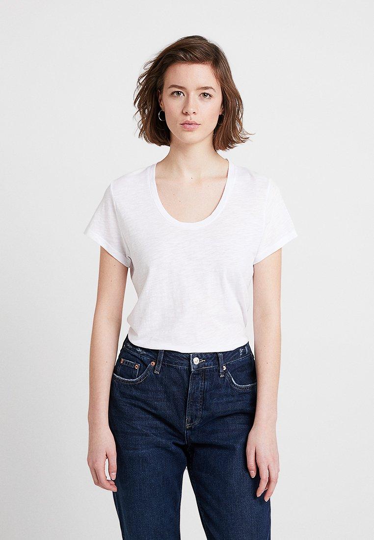 American Vintage - JACKSONVILLE ROUND NECK - T-Shirt basic - blanc
