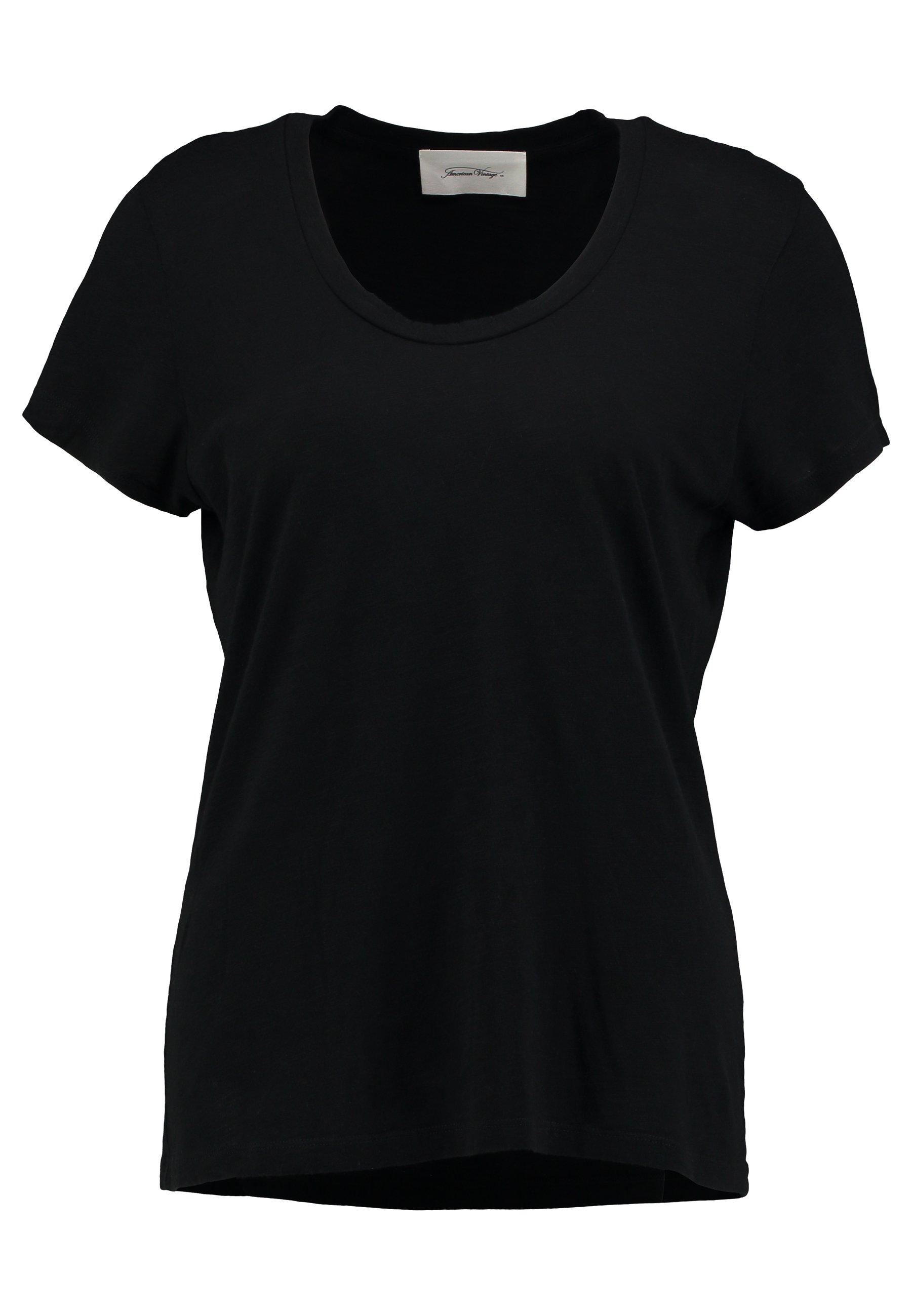 American Vintage JACKSONVILLE ROUND NECK - T-shirt basic - noir QNlRjYki