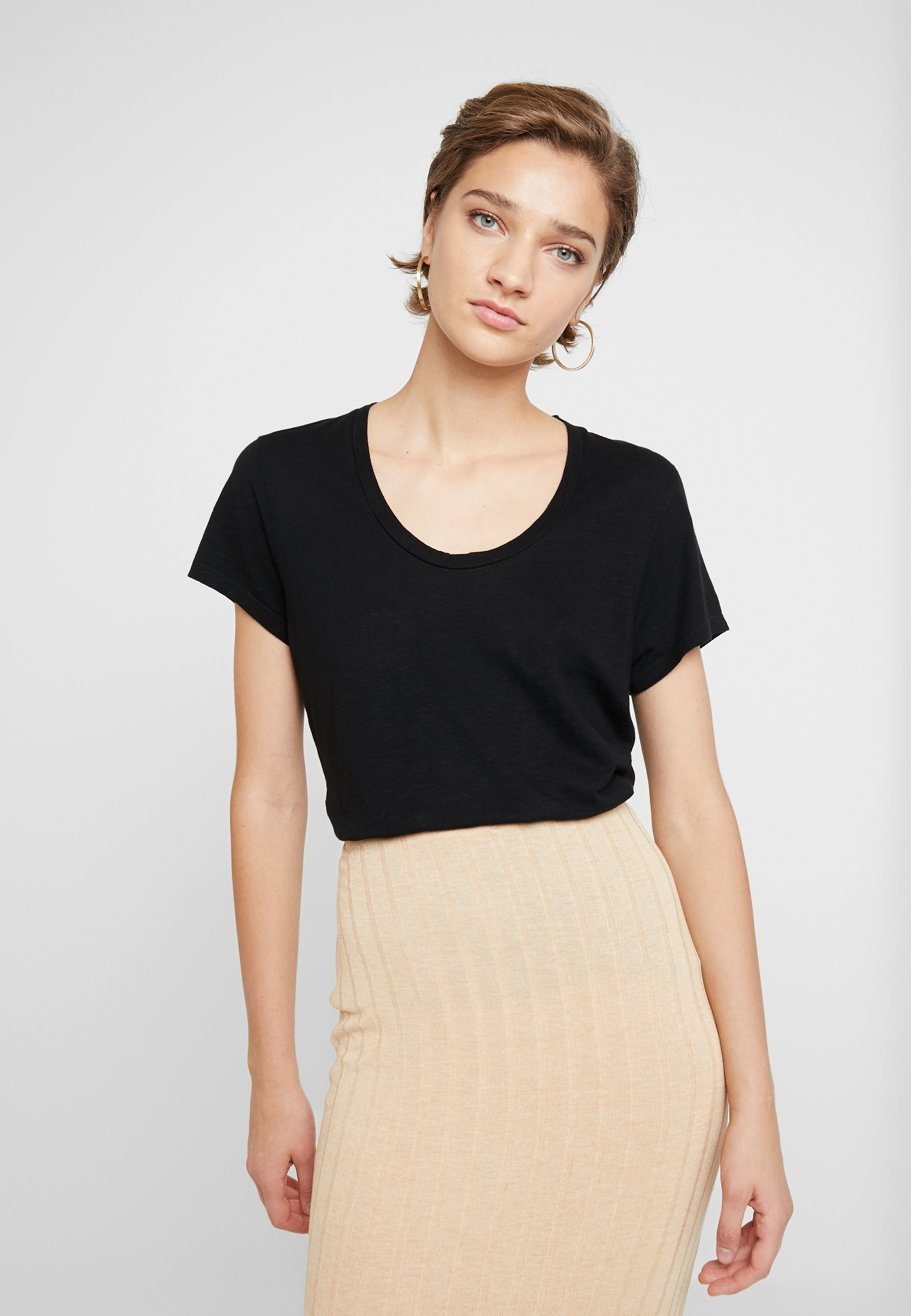 American Vintage Jacksonville Round Neck - T-shirt Basic Noir