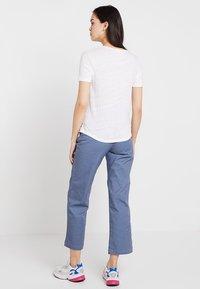 American Vintage - LOLOSISTER SLUB ROUND NECK - Jednoduché triko - blanc - 2