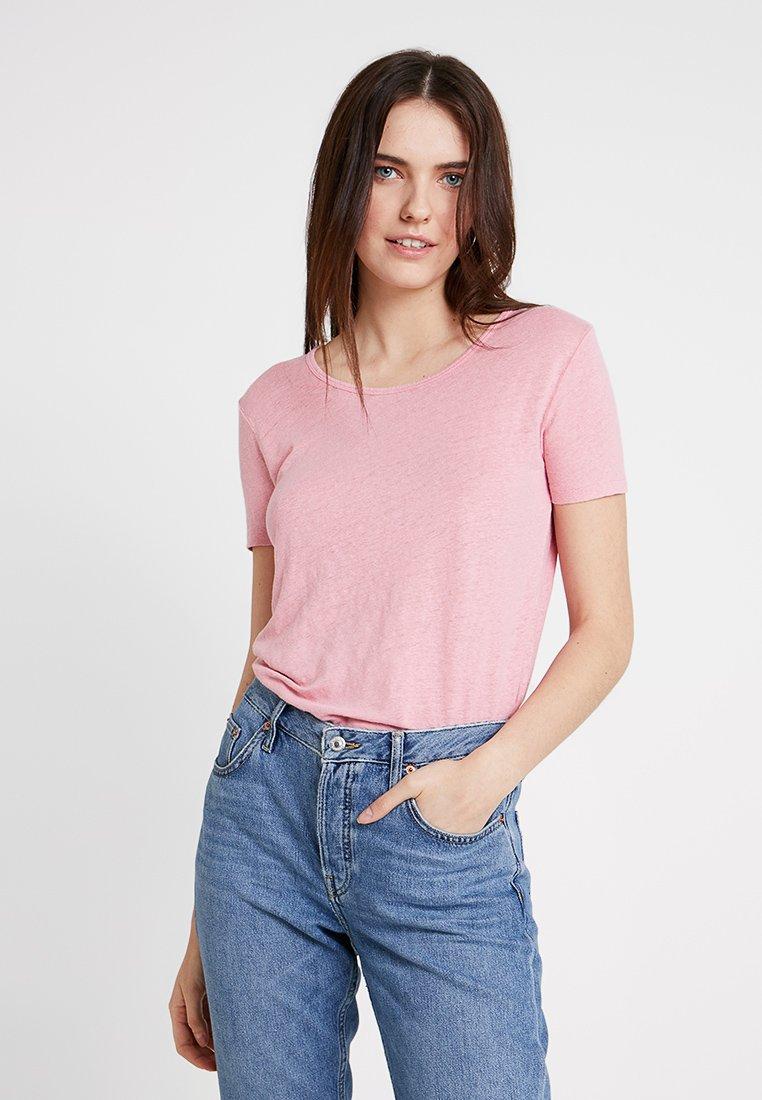 American Vintage - LOLOSISTER SLUB ROUND NECK - T-Shirt basic - rose