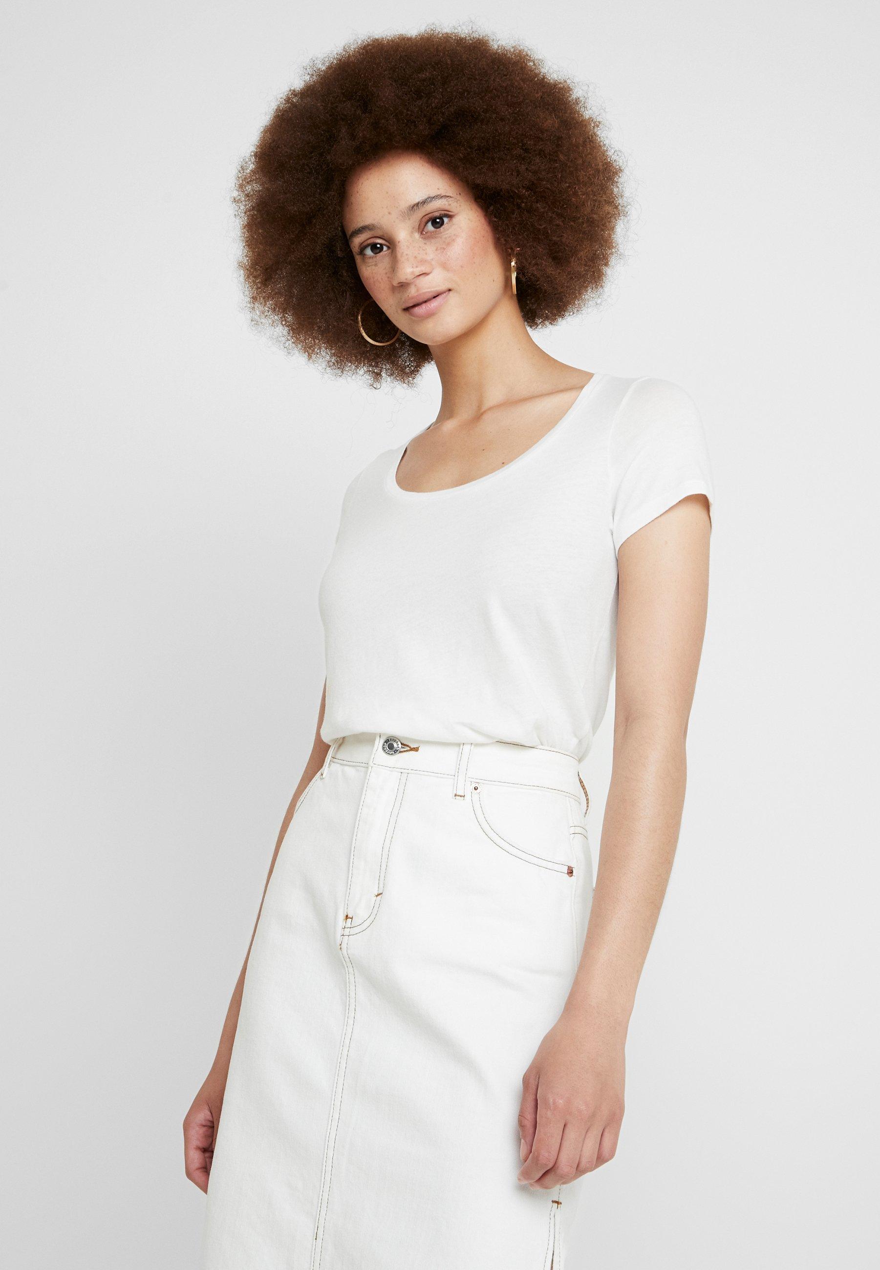 American Vintage BIPCAT - T-shirts - blanc