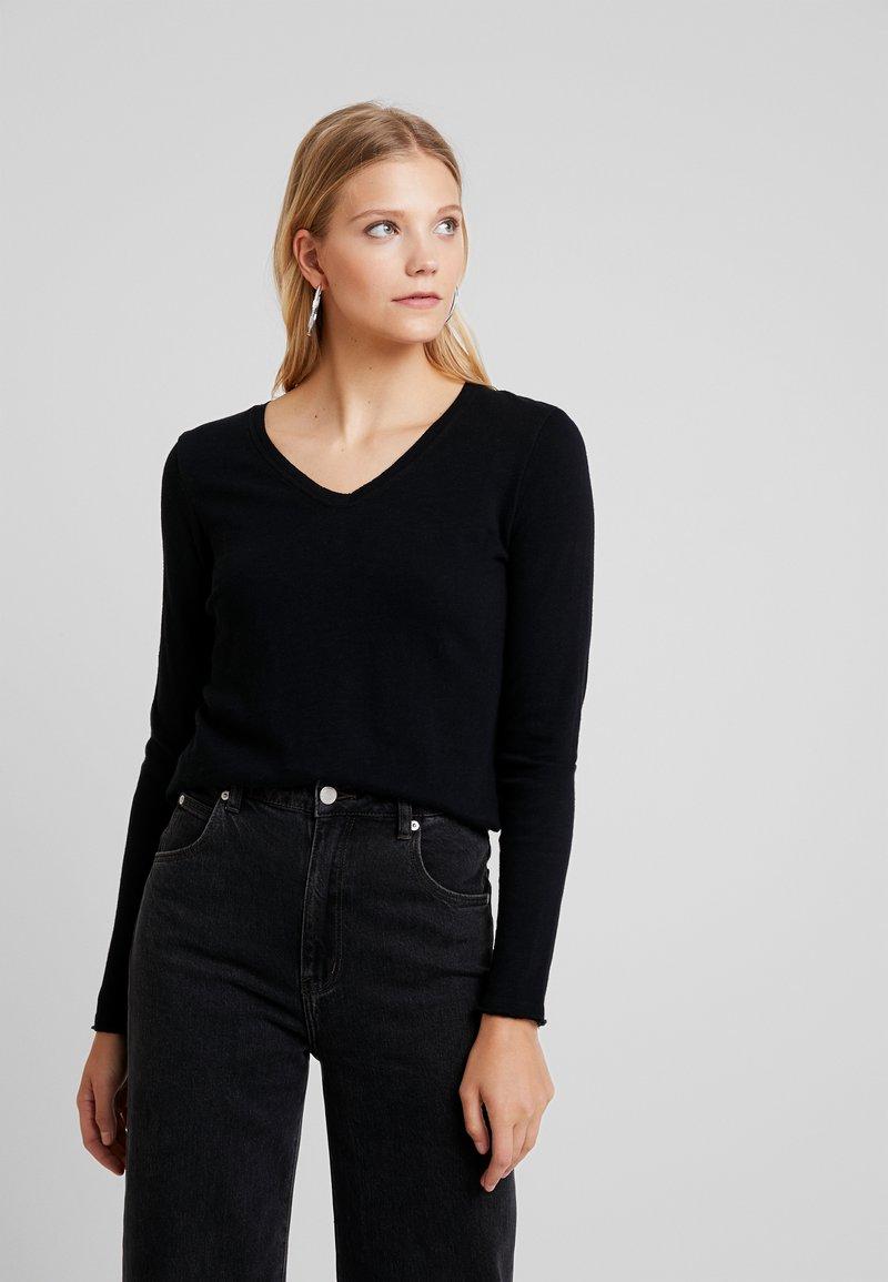 American Vintage - SONOMA - Maglietta a manica lunga - noir