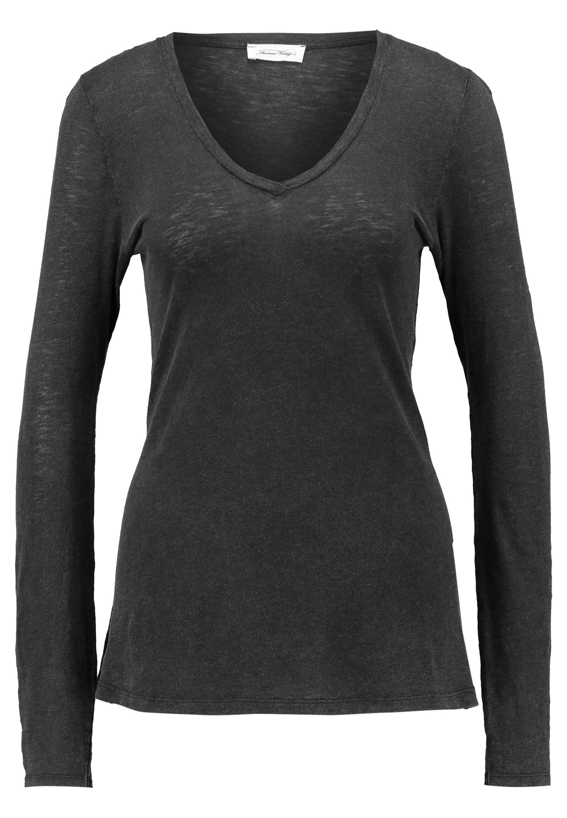 American Vintage Kobibay - Long Sleeved Top Black UK