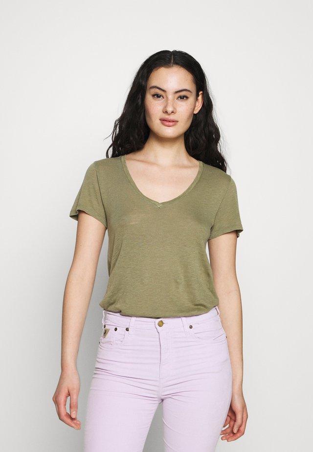 KOBIBAY - T-Shirt basic - olivier vintage