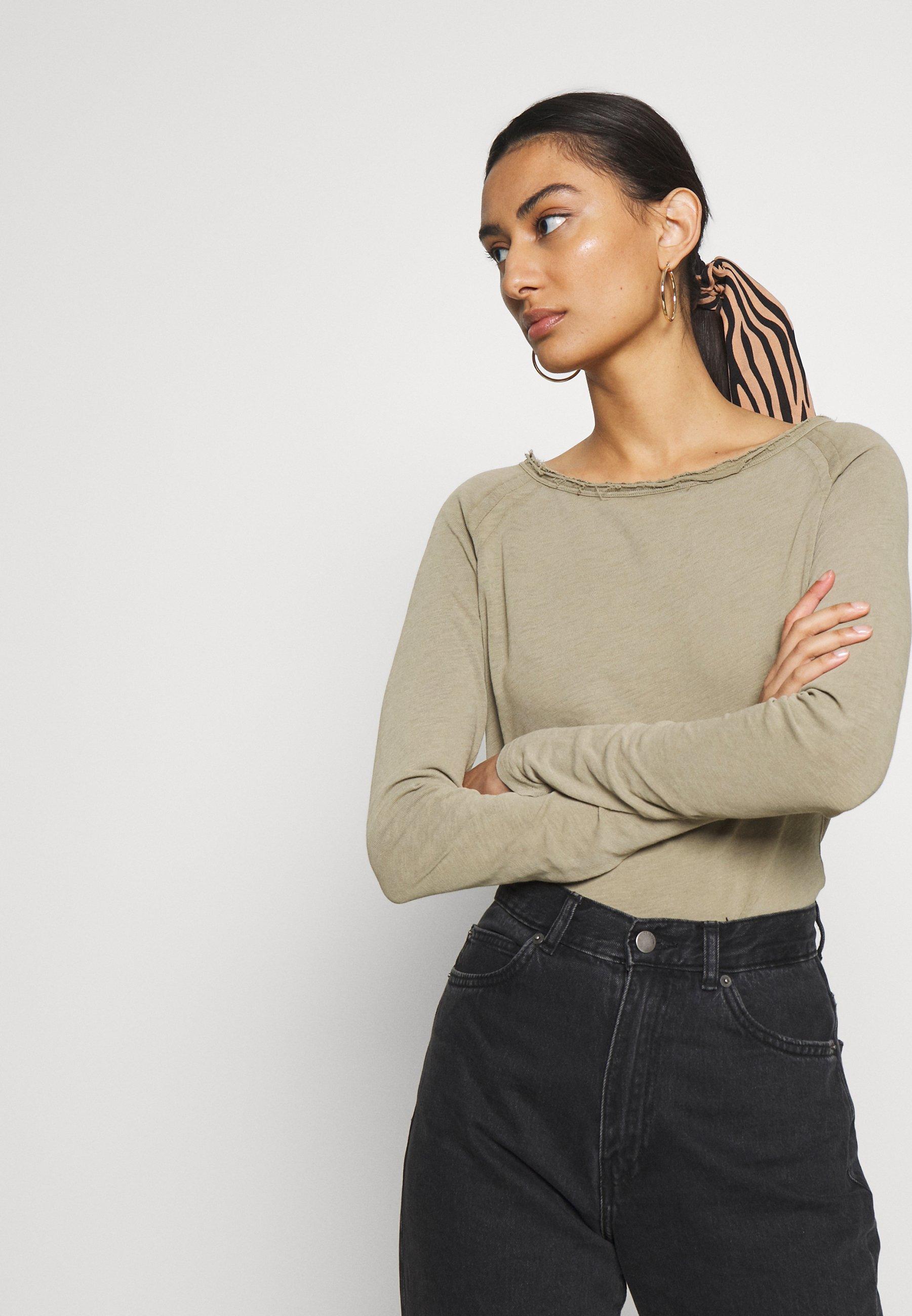 American Vintage SONOMA - Long sleeved top - verveine