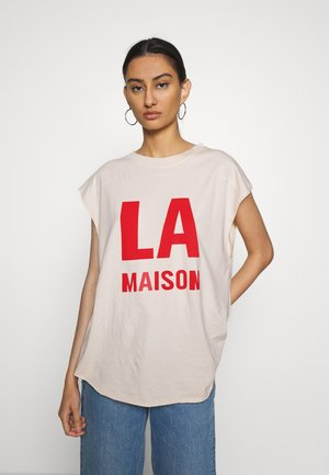 ROMPOOL - T-shirt z nadrukiem - nougat vintage