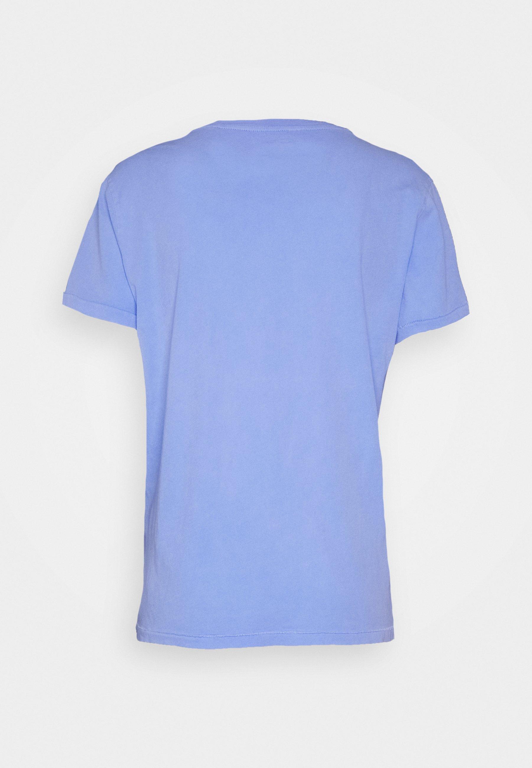 American Vintage Vegiflower - T-shirt Basic Celeste