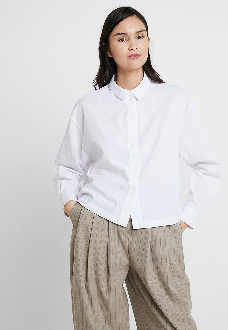American Vintage - PIZABAY LONG SLEEVE - Button-down blouse - blanc