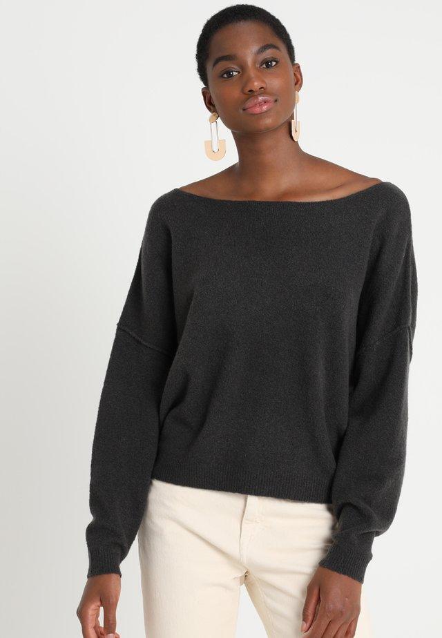 DAMSVILLE - Stickad tröja - carbon