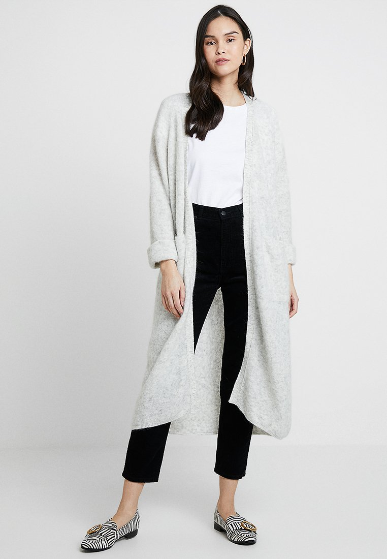 American Vintage - WOXILEN LONG CARDIGAN - Vest - polair chine