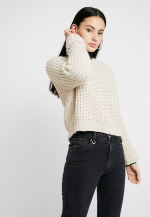 PIUROAD - Stickad tröja - beige chine