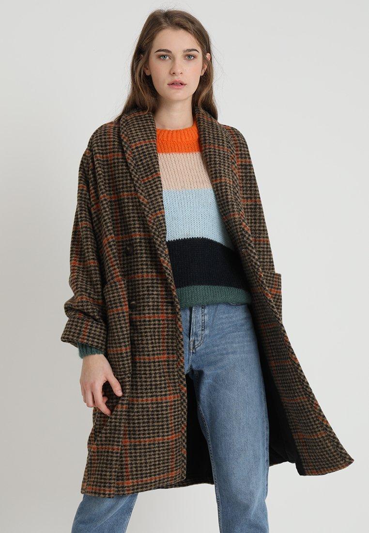 American Vintage - STEFY TARTAN COAT - Wollmantel/klassischer Mantel - brown