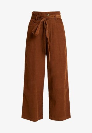 OTT TIE WIDE LEG PANT - Trousers - brown