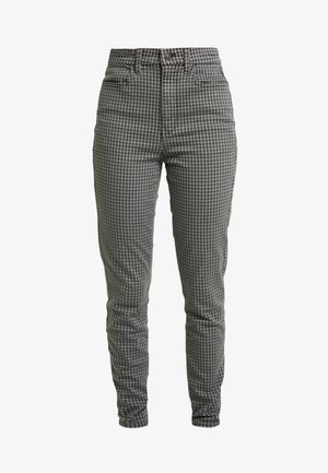 HOUNDS TOOTH CURVY - Trousers - black charcoal
