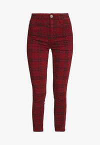 American Eagle - HIGH RISE JEGGING - Kalhoty - red - 4
