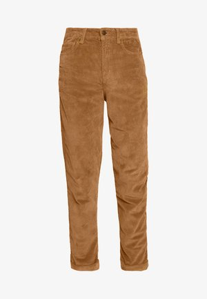 MOM WIDE WALE - Broek - cognac