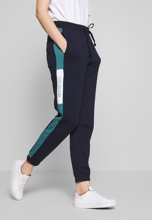 BRANDED COLORBLOCK JOGGER - Tracksuit bottoms - navy