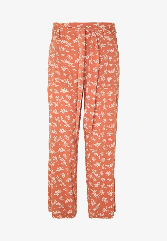 3532 CHAIN WIDE LEG PRINT PANT - Stoffhose - rust