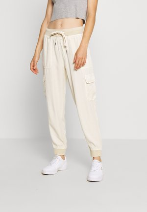 Cargo trousers - cream