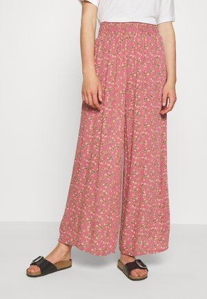 EASY PANTS - Trousers - berry