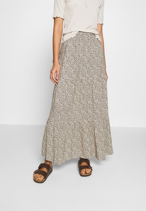 TIERED MIDI SKIRT - Jupe longue - beige