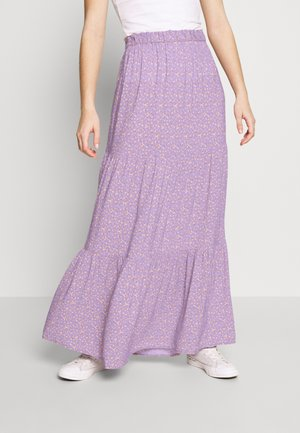 TIERED MIDI SKIRT - Maxi sukně - purple